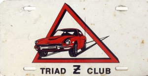 Original Triad Z Club License Plate