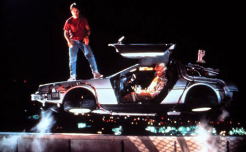 Flying DeLorean DMC-12 Time Machine