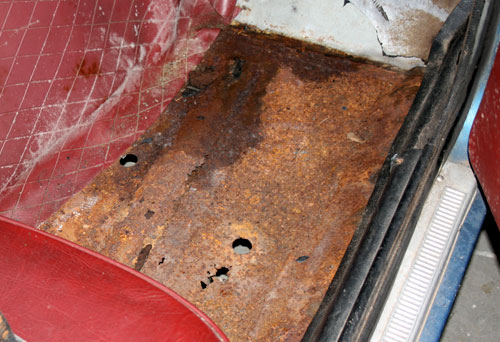 1972 Datsun 240Z Rusted Out Passenger Floorpan