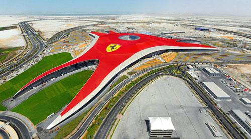 Ferrari World Outside Building Exterior