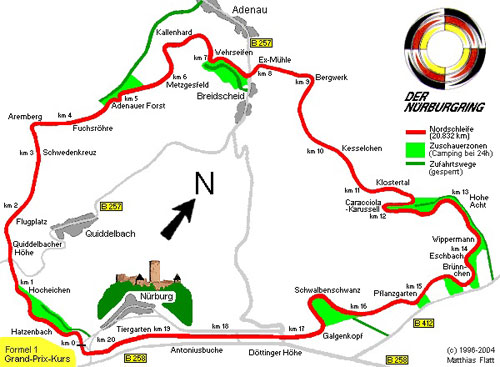 Nurburgring Ring Track Circuit Map