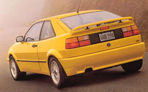 VW Volkswagen Corrado Coraddo Corado Rear Yellow