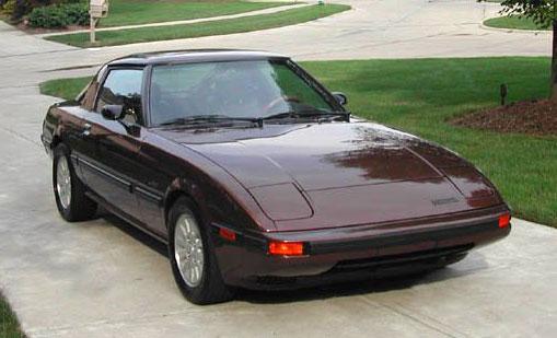 Mazda RX-7 RX7 GSL-SE GSLSE 13B 1984 1985 84 85 Rotary Wankel Brown Maroon