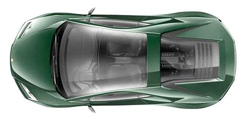 2014 Lotus Esprit Top View Green British Racing BRG