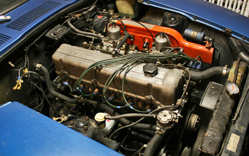 1972 72 Datsun 240Z Blue L24 L-24 Inline 6 Six Engine Motor