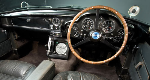 Aston Martin DB5 DB-5 James Bond Goldfinger Car Interior Inside Cockpit Dashboard