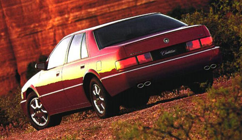 Cadillac Seville STS Red Rear Taillights Back