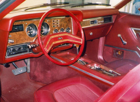 Ford Mustang II Interior Red