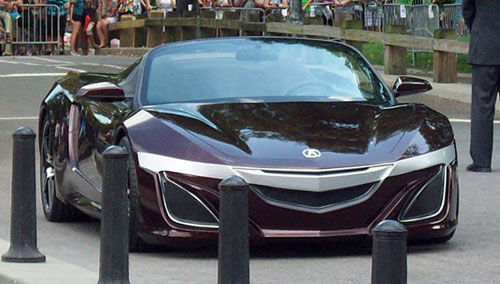 Acura Honda NSX Purple Iron Man Tony Stark