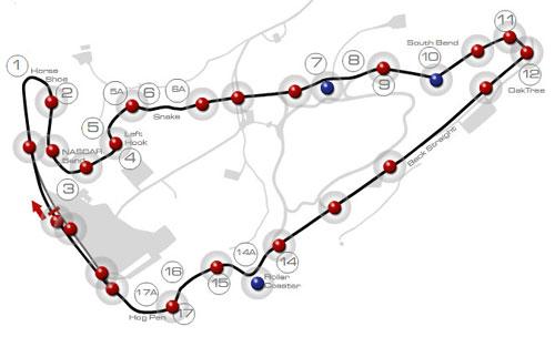 VIR Virginia International Raceway Danville Track Race Circuit Map Layout Course