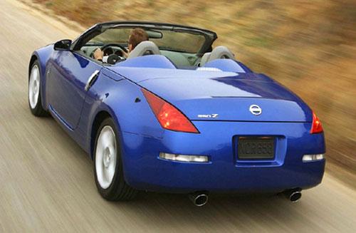Nissan 350z Convertible Vert Cabrio Droptop Ragtop Blue