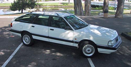 1991 Audi 200 Avant White quattro Turbo 200q20v