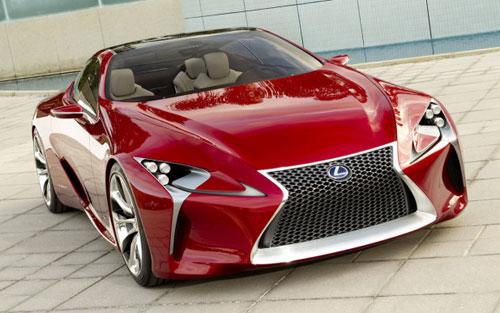 Lexus LF-LC LFLC Concept Red