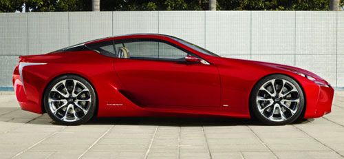 Lexus LF-LC LFLC Concept Red Profile Side View