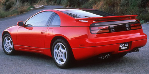 Nissan Z32 300ZX 300Z Red Twin Turbo