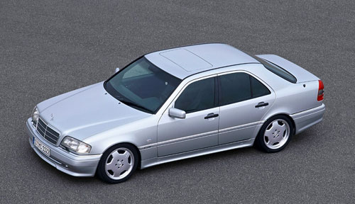 Mercedes-Benz Merc MB W202 C36 AMG Silver Gray Grey