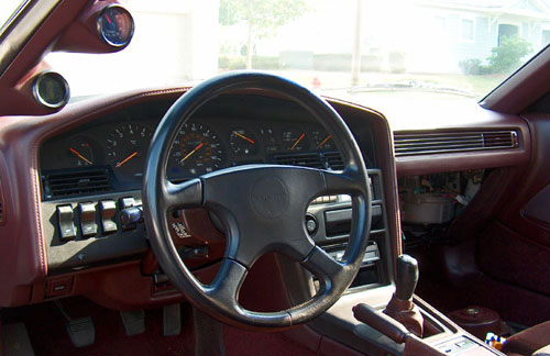 Mark Mk 3 MkIII Mk3 Toyota Supra Turbo JZA70 MA70 MA71 Maroon Brown 1JZ 1JZ-GTE 1JZGTE Interior Inside Cockpit Cluster Dash Dashboard Momo Steering Wheel