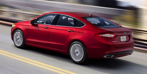 2013 13 Ford Fusion Red Rear Back
