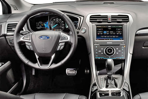 2013 13 Ford Fusion Interior Inside Cockpit Dashboard Cluster Instruments Console Stereo