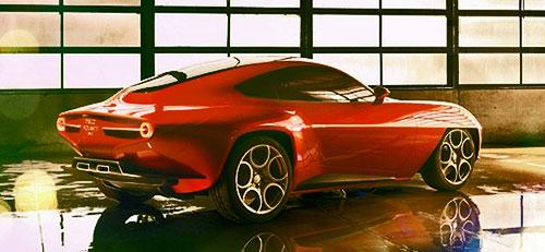 Alfa Romeo Alpha Disco Volante Concept Carrozzeria Red