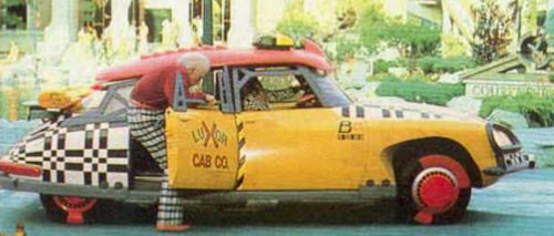 Back to the Future II Part 2 Movie Cab Taxi Yellow Red Citroen DS Griff