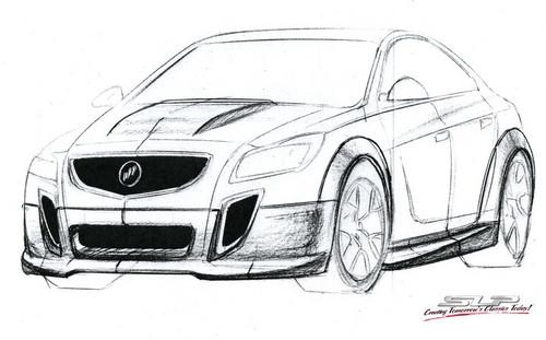 Buick SLP GNX Regal GS Concept Sketch Teaser