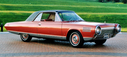 Chrysler Turbine Car Jet Engine Gas Burnt Orange Red Concept