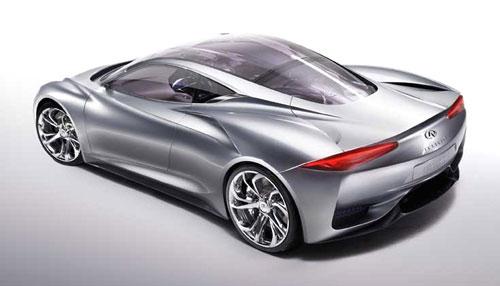 Infiniti Emerg-E EmergE Concept Show Car Silver
