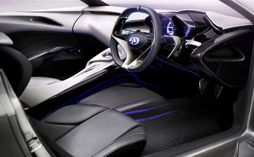 Infiniti Emerg-E EmergE Concept Show Car Interior Inside Cockpit Console Dash Dashboard