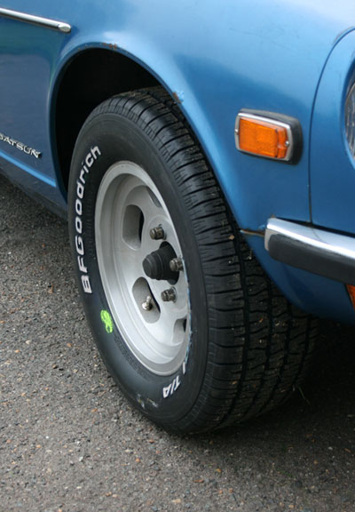 Datsun Nissan 240Z 260Z 280Z Z-Car Tires Wheels Slotted Mag BF Goodrich Radial Comp T/A