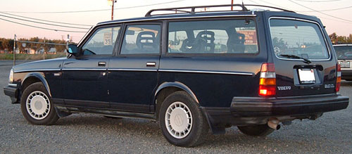 Volvo 240DL 240 Wagon 245 Blue Redblock Brick
