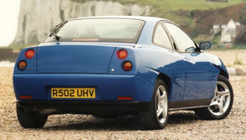 Fiat Coupe Coupé Chris Bangle Pininfarina Rear Taillights Blue