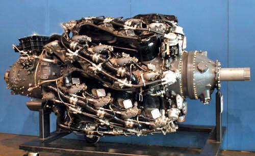 Pratt & Whitney R-4360 Wasp Major on stand