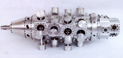 Pratt & Whitney R-4360 Wasp Major case assembly crankcase pistons