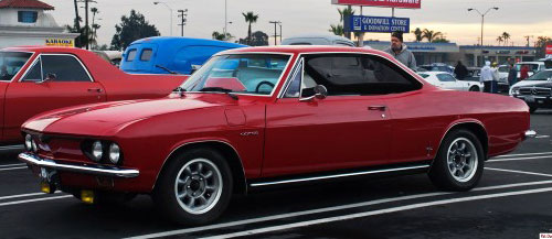 1966 Chevy Chevrolet Corvair Red