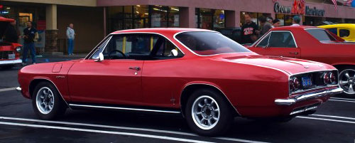 1966 Chevy Chevrolet Corvair Red Rear Back Taillights