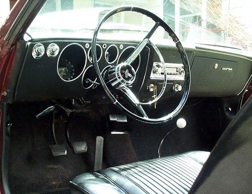 1965 Chevy Chevrolet Corvair Interior Inside Cockpit Dash Dashboard Gauges Console