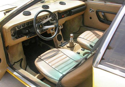 Lamborghini Lambo Urraco Uracco Urracco Interior Inside Cockpit Console Dash Dashboard