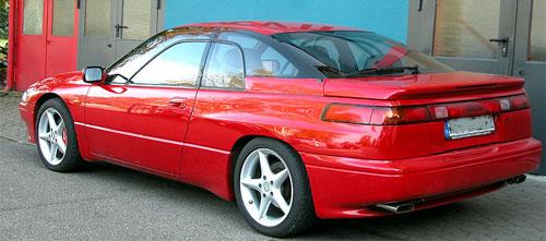 Subaru Alcyone SVX Red Rear Back