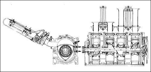 rotary spannerhead mazda r26b 4 four rotor engine motor le mans win 787b diagram schematic drawing cross section