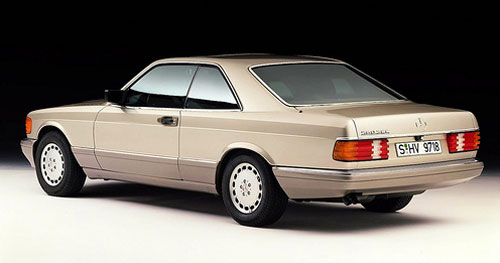 Mercedes Benz W126 560SEC Coupe Beige Brown Rear Back Taillights