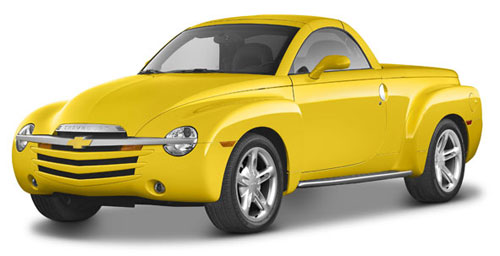 Chevy Chevrolet SSR Hardtop Pickup Yellow