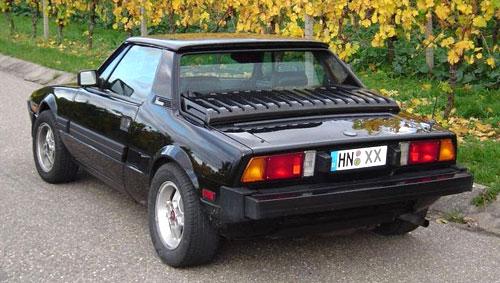 Fiat X1/9 X19 X1-9 Black Back Rear Tail