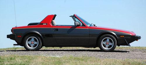 Fiat X1/9 X19 X1-9 Red Black Profile Side