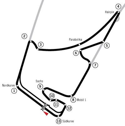 Hockenheim Hockenheimring F1 Formula 1 One Track Circuit New Post-2002 Redesign Herman Tilke