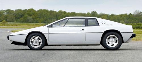Lotus Esprit S1 Series 1 White Profile Side View