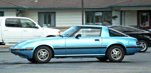 Mazda RX-7 RX7 FB SA22C Light Sky Blue