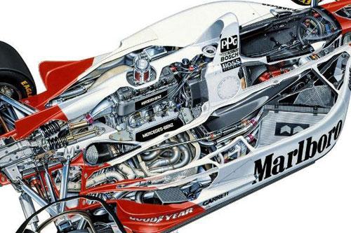 Mercedes Ilmor 500I IndyCar Indy 500 1994 Penske PC-23 Engine Motor Pushrod