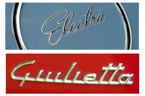 Car Nameplates Emblems Badges