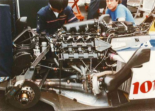 Monaco F1 Formula 1 GP Grand Prix 1987 Williams Honda V6 Turbo Engine Motor